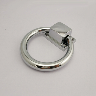 Zinc Alloy Chrome Polished Door Ring Handle