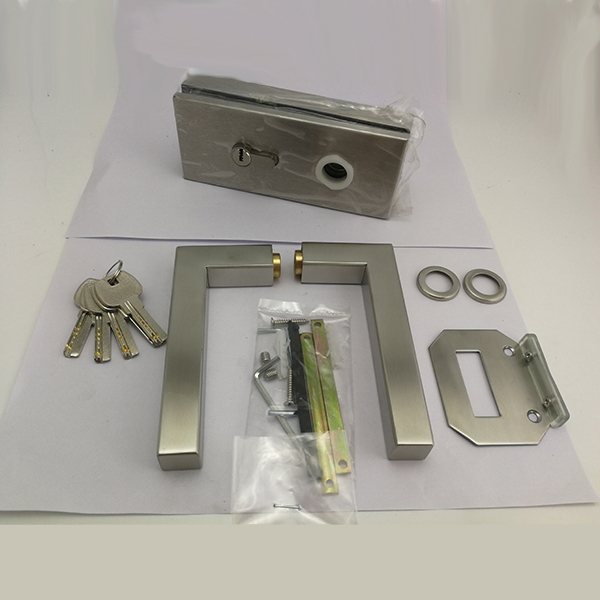 Stainless Steel Single Side Glass Door Lock