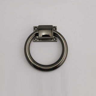 Zinc Alloy Black Chrome Door Ring Handle