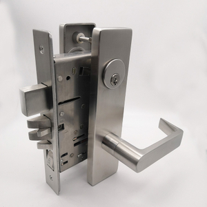 Stainless Steel Solid Handle American Style UL Approval Heavy Duty Mortise Door Lock