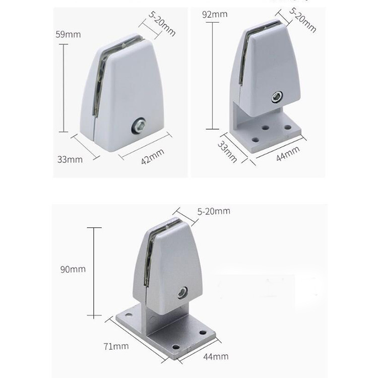 Aluminum Adjustable Protective Panel Clamps for Protection Sneeze Guard Stand for Office Safety, Employees, Workers, Customers