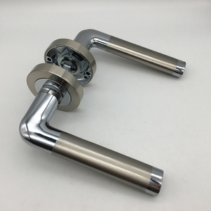 German or Italy Style Silver Zinc Alloy Unique Bathroom Internal Door Handle Locks Price for Homes
