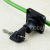 (138-22) Black Total Iron Desk Drawer Lock cam lock
