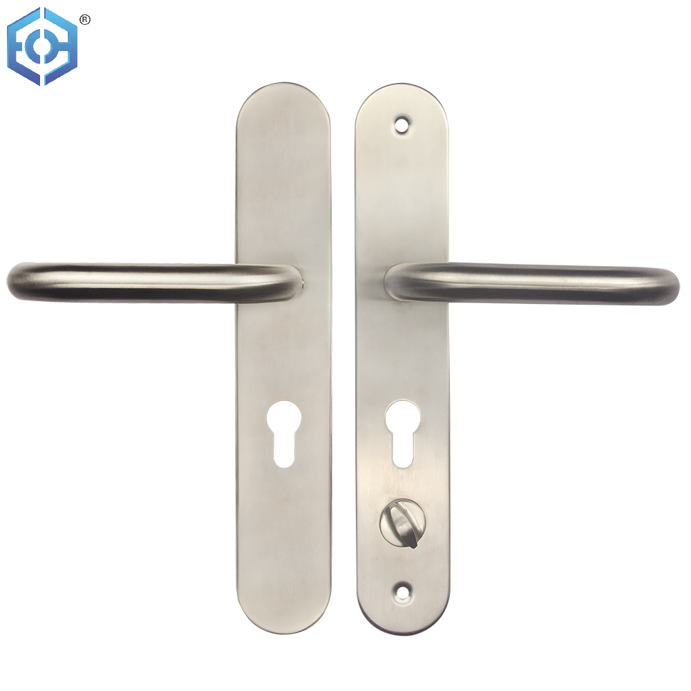 Stainless Steel 304 Material Door Handle with Plate