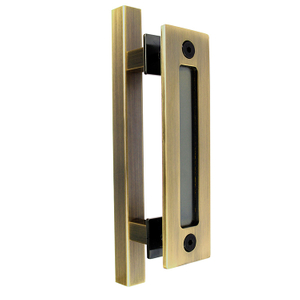 AB Carbon Steel Premium Sliding Barn Door Handle Pull Set