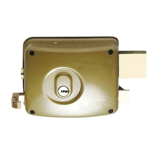 Chile Chapa Brass Cerradura De Sobreponer 3 Bolts Door Rim Lock