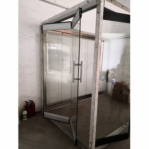 Popular modern design large opening double glazed aluminum insulated folding door