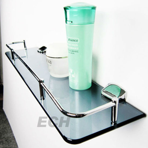Stainless Steel Cosmetic Glass Shelf (GHT78021)