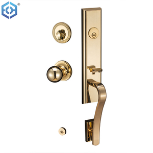 SG Solid Zinc Alloy Single Cylinder Sectional Safety Security Front Entrance Door Lock And Handles Set with Classic Interior Knob