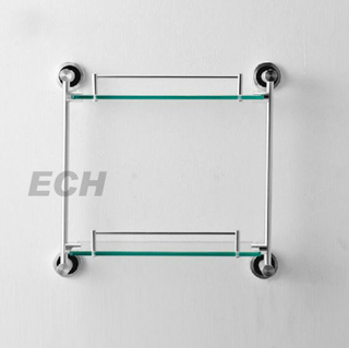 Pss Stainless Steel Bathroom Floating Glass Shelf (GHY-8959)