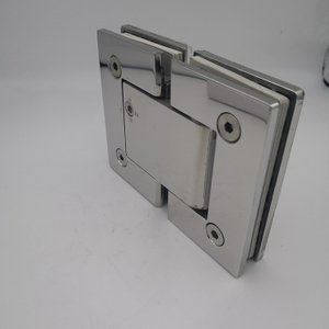 stainless steel 90/180 degree double side hydraulic adjust solf closed glass shower door pivot hinge