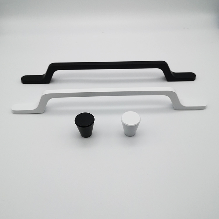 Aluminum Profile Black Or Silver Furniture Cabinet Drawer Handle And Pull Knob