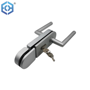 Popular Aluminum Allloy Double Door Glass Door Lock with Key for Sliding Glass Door