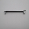 Popular Leather Chrome Zinc Kitchen Furniture handle for Bedroom Cabinet
