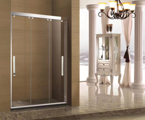 New design Sliding Bolding Bathroom Door With Stainless Steel Accessories