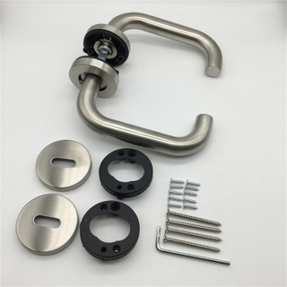 Can Lift Up And Down Door Handles with Black Plastic Underconstruction Spindle And Screws