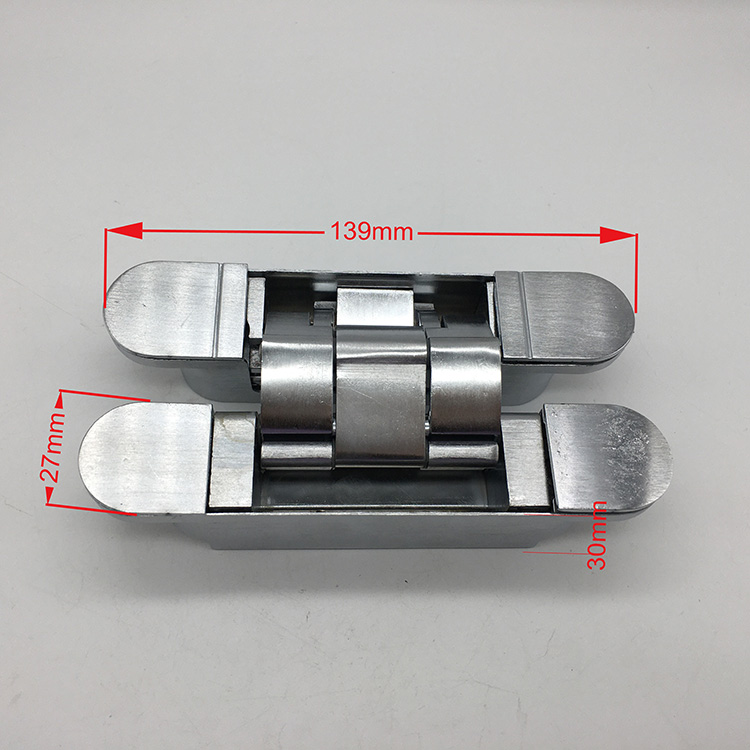 Zinc Alloy Three-Dimensional Adjustable Invisible Kitchen Cabinet Door Hinges Concealed