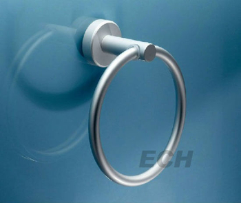 Silver Stainlesss Steel Modern Towel Ring (GHY-8962)