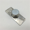Stain Nickel Stainless Steel And Plastic Concealed Magnetic Door Stopper