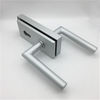 Silver Aluminum Alloy Frameless Office Bathroom Glass To Wall Door Lock