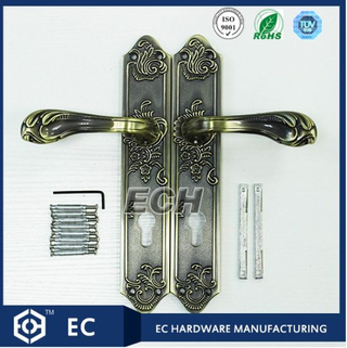 Antique Clouding Surface Zinc Alloy Door Handle (4057)