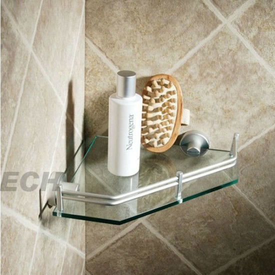 Stainless Steel and Glass Wall Shelves Corner (GHY-8961)