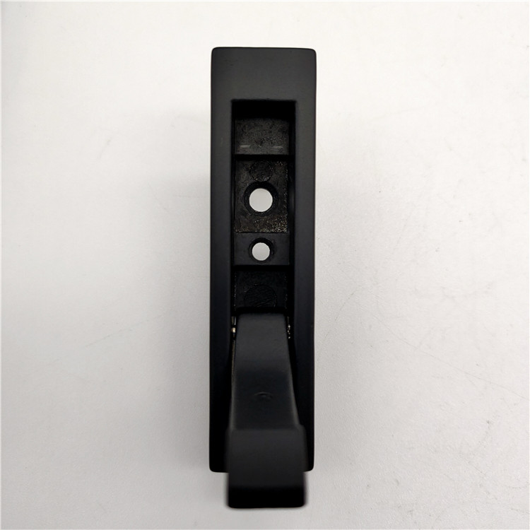 Black Zinc Alloy Cabinet Furniture Concealed Wardrobe Drawer Flush Pull Handle