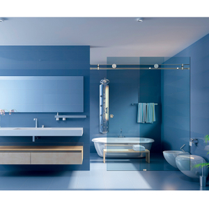 Shower Room Stainless Steel Glass Sliding Door Sets Fitting