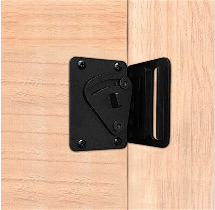 Black Barn Door Lock with Sliding Door Handle Large Size Privacy Latch Lock for Sliding Door