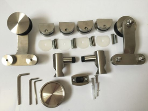 European Glass Sliding Door Fittings, Stainless Steel Barn Door Hardware
