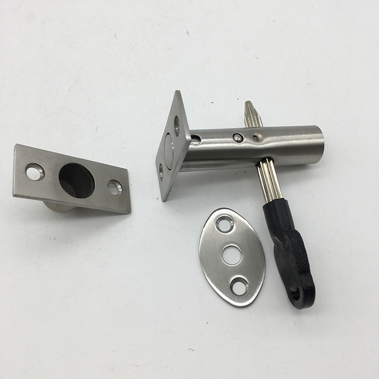 Stainless Steel Pipe Tube Lock Invisible Pipe Well Lock Locker for Fireproof Door Escape Aisle Locks Concealed Door Hardware