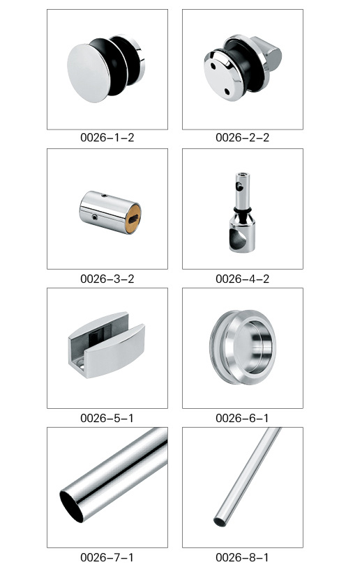stainless steel Silence Sliding Glass Door System hardware fitting with solid casting technology
