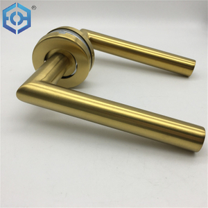 Gold Plating Stainless Steel Fancy Gold Tube Door Handle
