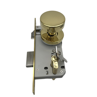 Golden PVD Stainless Steel Door Knob Lock Set Door Lock Body Mortise Lock Knob Lock Cylinder Lock