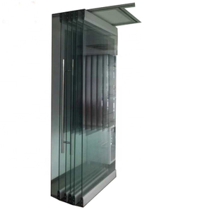 frameless tempered glass transparent bi folding door