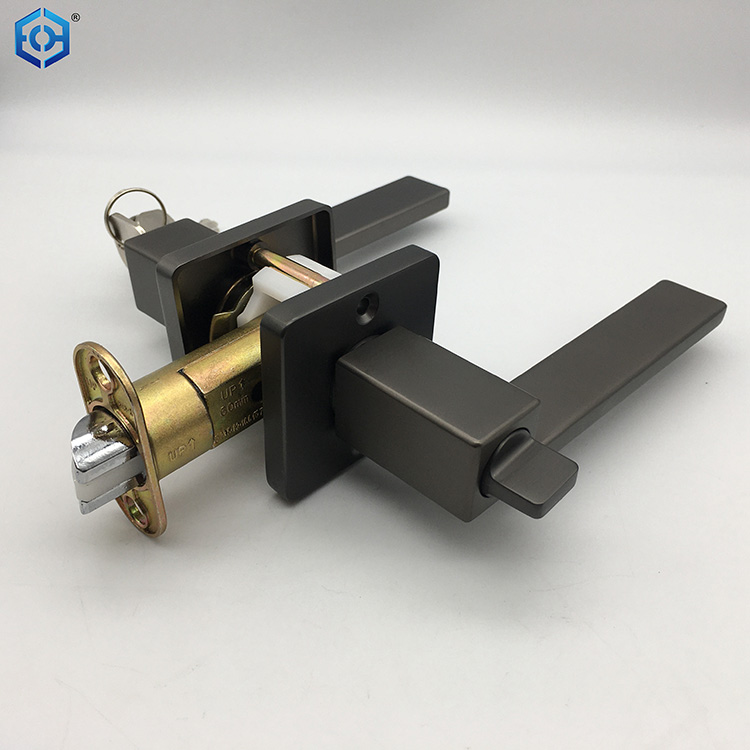 Zinc Alloy for Russia Door Lever Handle Privacy Lock