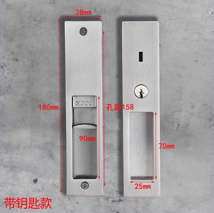 Zinc Alloy Wooden Indicator Sliding Door Lock with Key