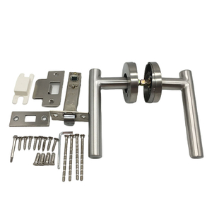 Privacy Bathroom Lever Lock Set for Interior Door Heavy Duty Door Lock Handle Satin Nickel Bed Or Bath Room