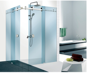 China Manufacturer Sliding Glass Door System Shower Door Hardware Bathroom Glass Fitting