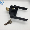 ECH Black Keyed Entry Lever Security Zinc Alloy Door Locks for Aluminium Doors