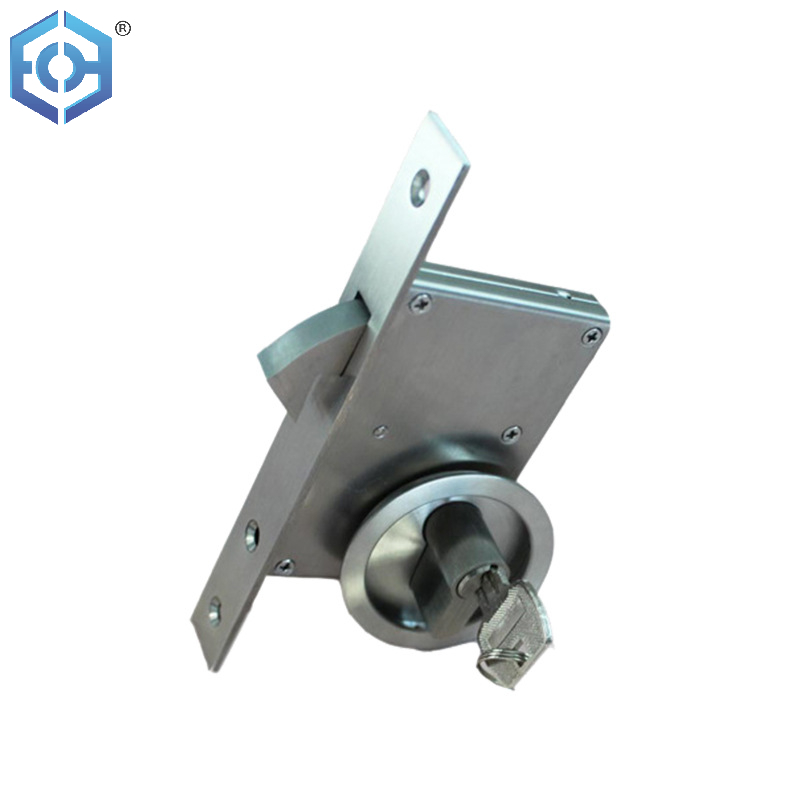 Hook Lock Factory Concealed Recessed Round Sliding Door Lock with Key Lock Cylinder