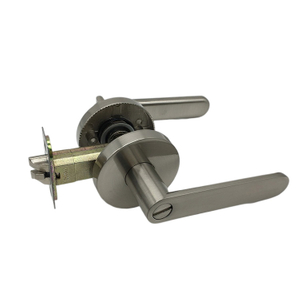 Stain Nickel Zinc Alloy Modern Door Handle Privacy Hall And Closet Lever Door Lock Price