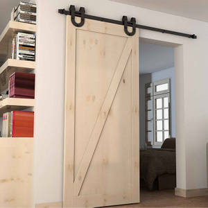 Heavy Duty Wall Mounted Track Roller Antique Style Wooden Sliding Barn Door Hardware