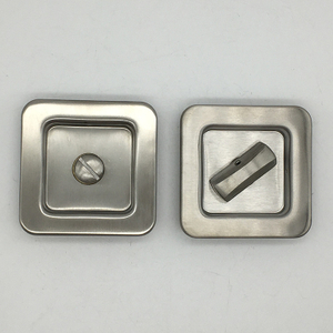 Square Stainless Steel Hidden Flush Door Recessed Pull Sliding Door Handle