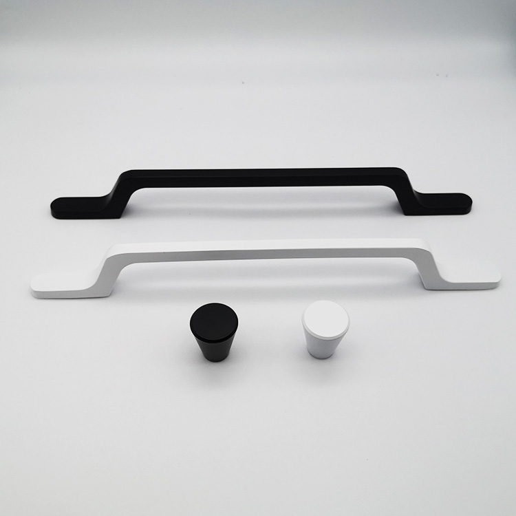 Black Or Silver Wholesale New Products Aluminium Kitchen Furniture Wood Cabinets Handles