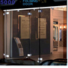 Fashion Sliding Glass Door Curtain Frameless Folding Door Folding Window