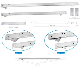 Hot Sale Ss304 Stainless Steel Door Closer Stainless Steel Concealed Coordinator