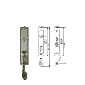 Ech Hot Sales Price Security European Style Antique Bronze Zinc Entrance Plated Door Handles Door Lock