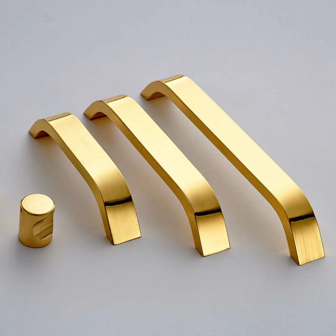 golden aluminum furniture handle for Kitchen Cabinet Handle