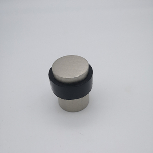 SSS stainless steel rubber door stopper on door or wall(DS009-A-SSS)